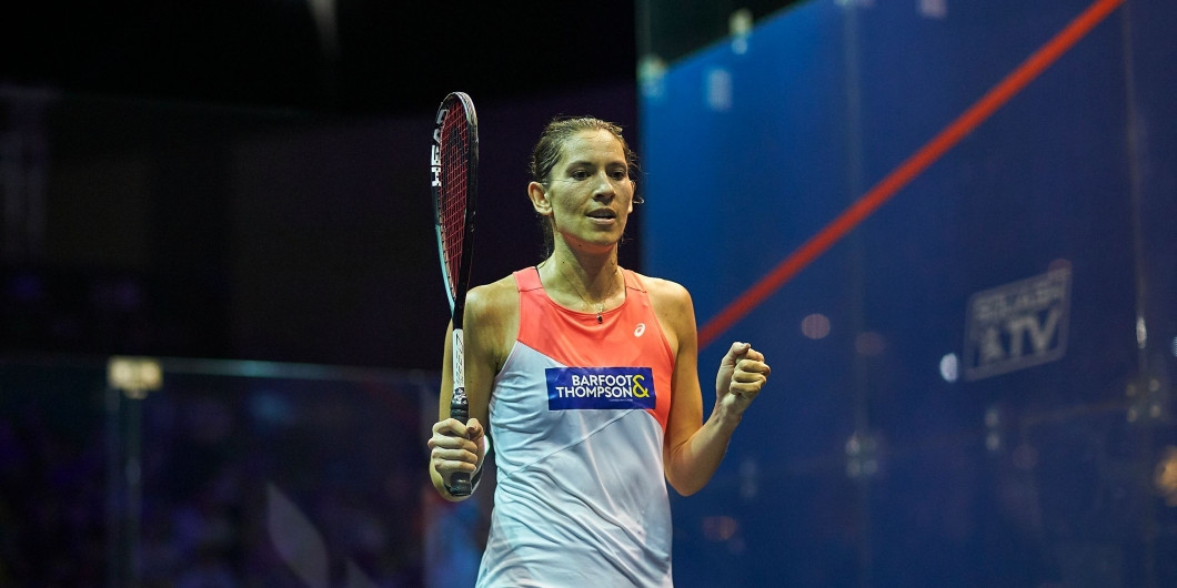 Joelle King beat world number one Nouran Gohar to qualify for the last four at the PSA World Tour Finals ©PSA