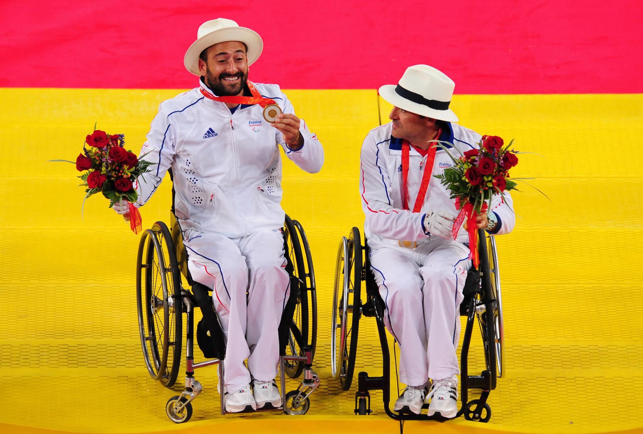 Michaël Jérémiasz earned Paralympic gold at Beijing 2008 alongside Stéphane Houdet ©Getty Images