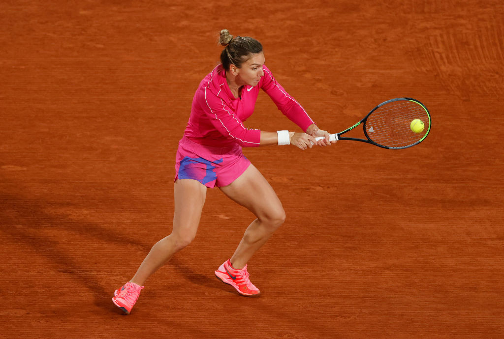 Women's singles top seed Simona Halep needed just 54 minutes to beat American teenager Amanda Anisimova ©Getty Images