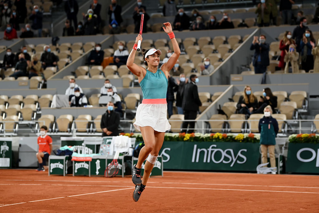 Caroline Garcia delighted the home crowd by defeating Belgian 16th seed Elise Mertens ©Getty Images
