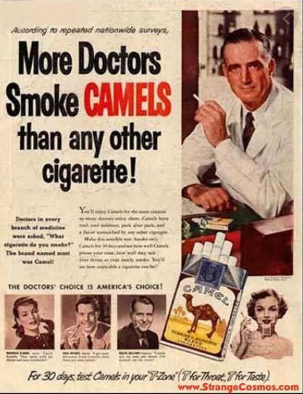 Down the years the tobacco industry has found a range of different approaches to sell its products ©StrangeCosmos