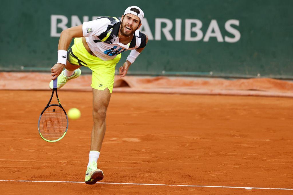 Karen Khachanov of Russia will play Novak Djokovic in the last 16 ©Getty Images