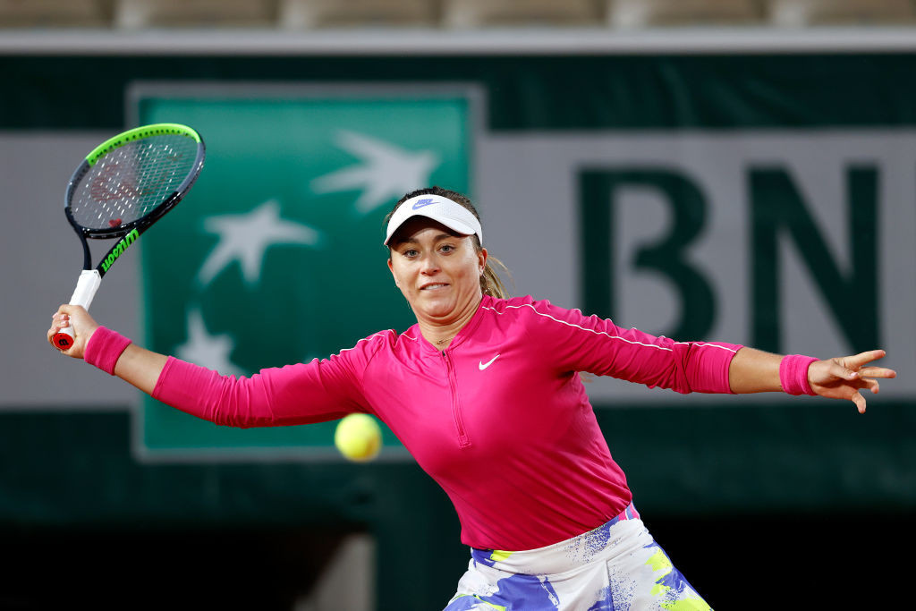 Paula Badosa of Spain beat former champion Jelena Ostapenko to book her spot in the last 16 ©Getty Images
