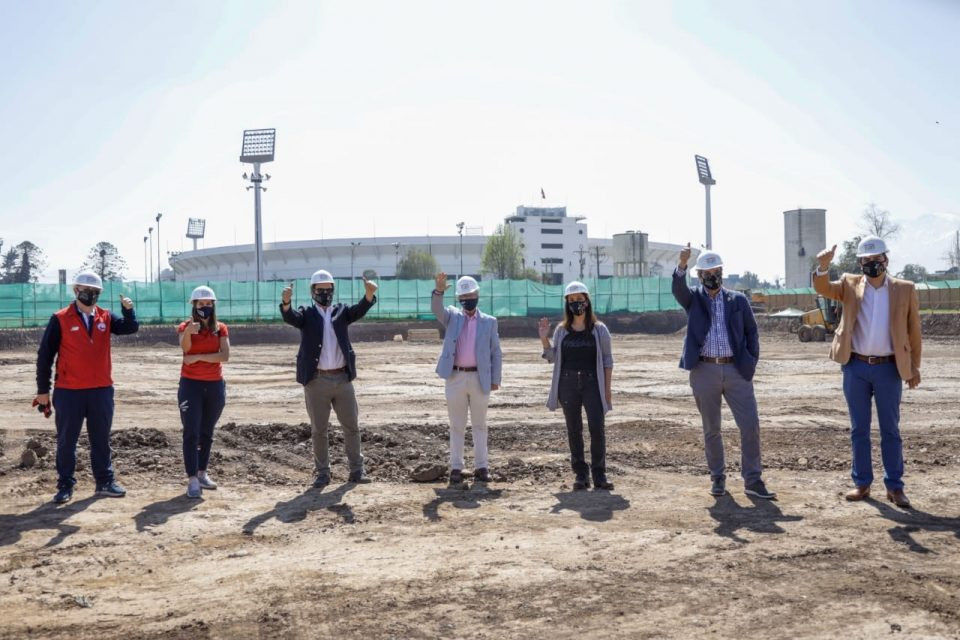 Santiago 2023 and Panam Sports officials visit planned hockey venue as construction begins
