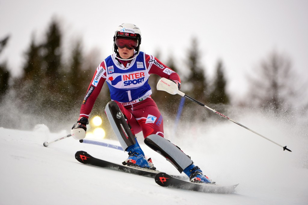 Nina Loeseth became the first Norwegian to win a women's slalom World Cup event for 16 years ©Getty Images