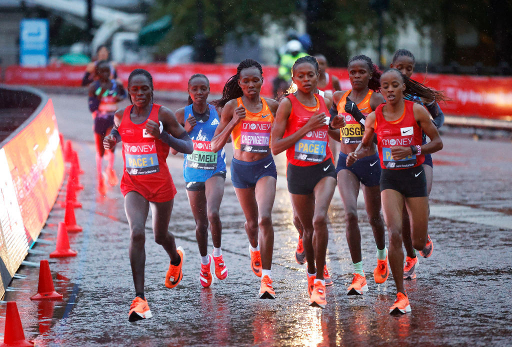 The Kenyan star outclassed the rest of the field to continue her red-hot form at the London Marathon ©Getty Images