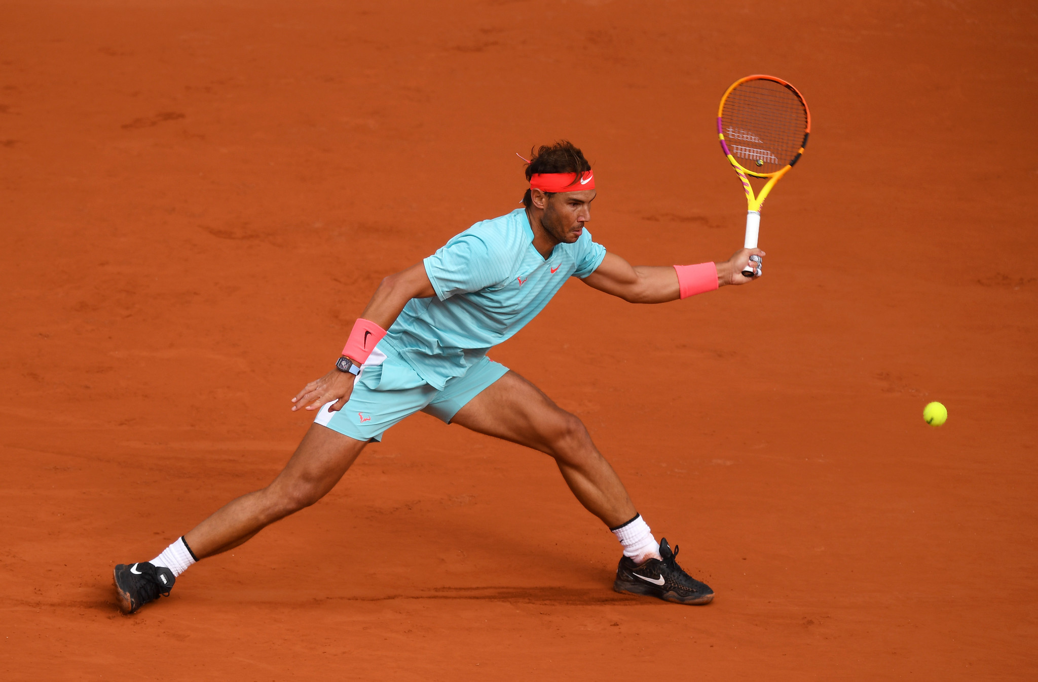 Despite all the shocks, favourite for the men's title Rafael Nadal progressed in straight sets against Sebastian Korda ©Getty Images