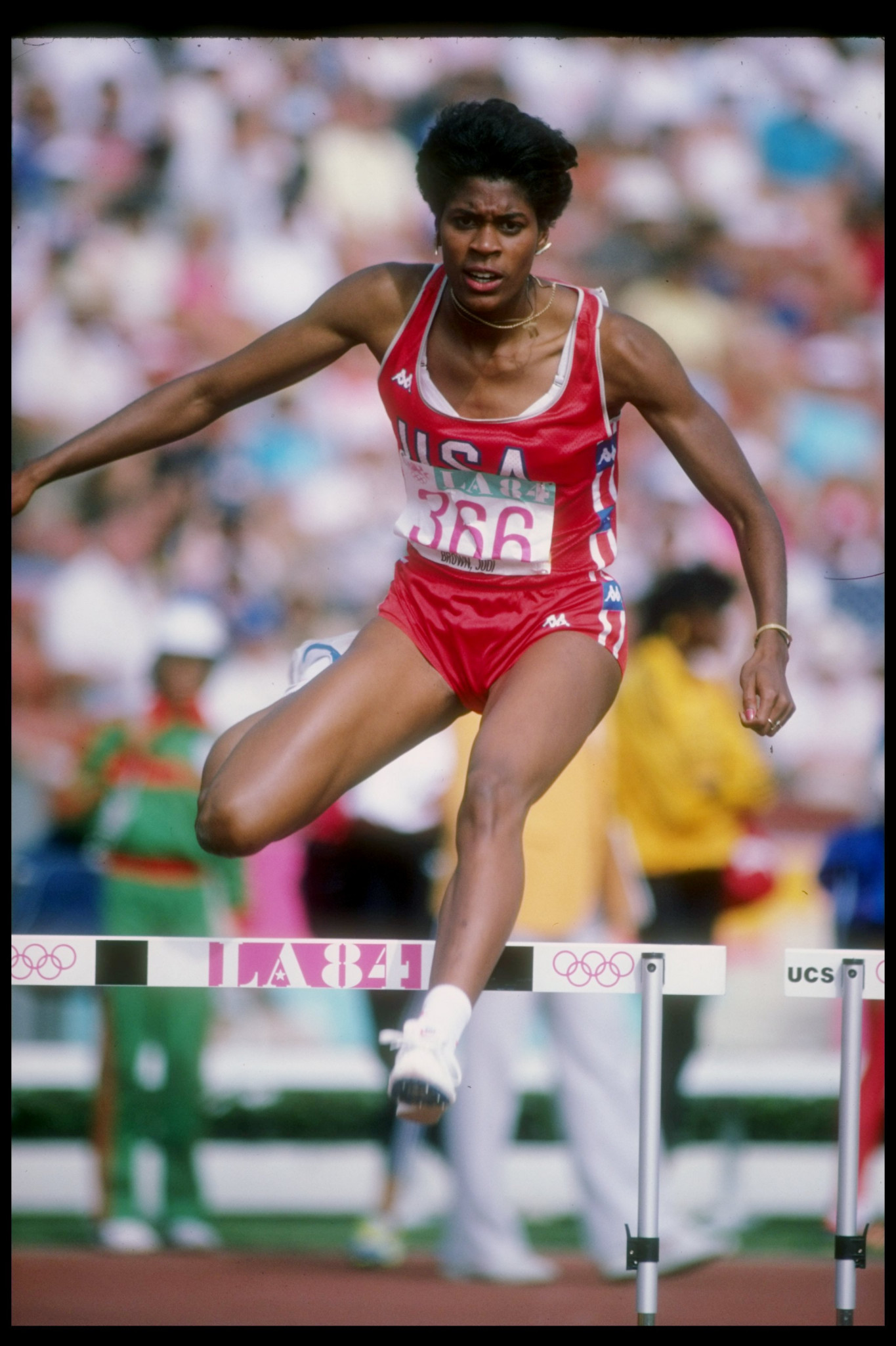 Hurdler Judi Brown Clarke won Olympic silver at Los Angeles 1984 ©Getty Images