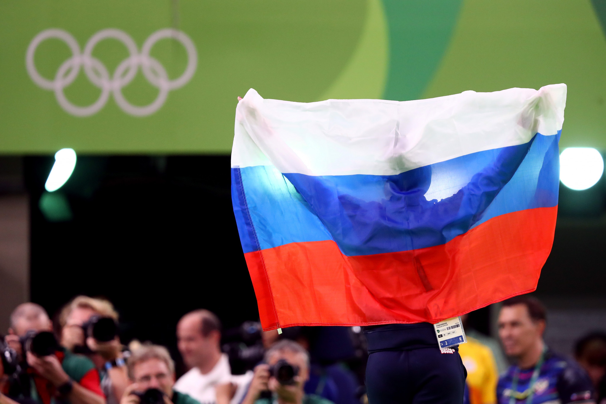 Athletes may not be able to compete under the Russian flag at next year's Olympics and Paralympics ©Getty Images