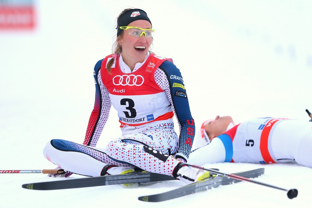 Sophie Caldwell earned her first World Cup win in Oberstdorf ©Getty Images