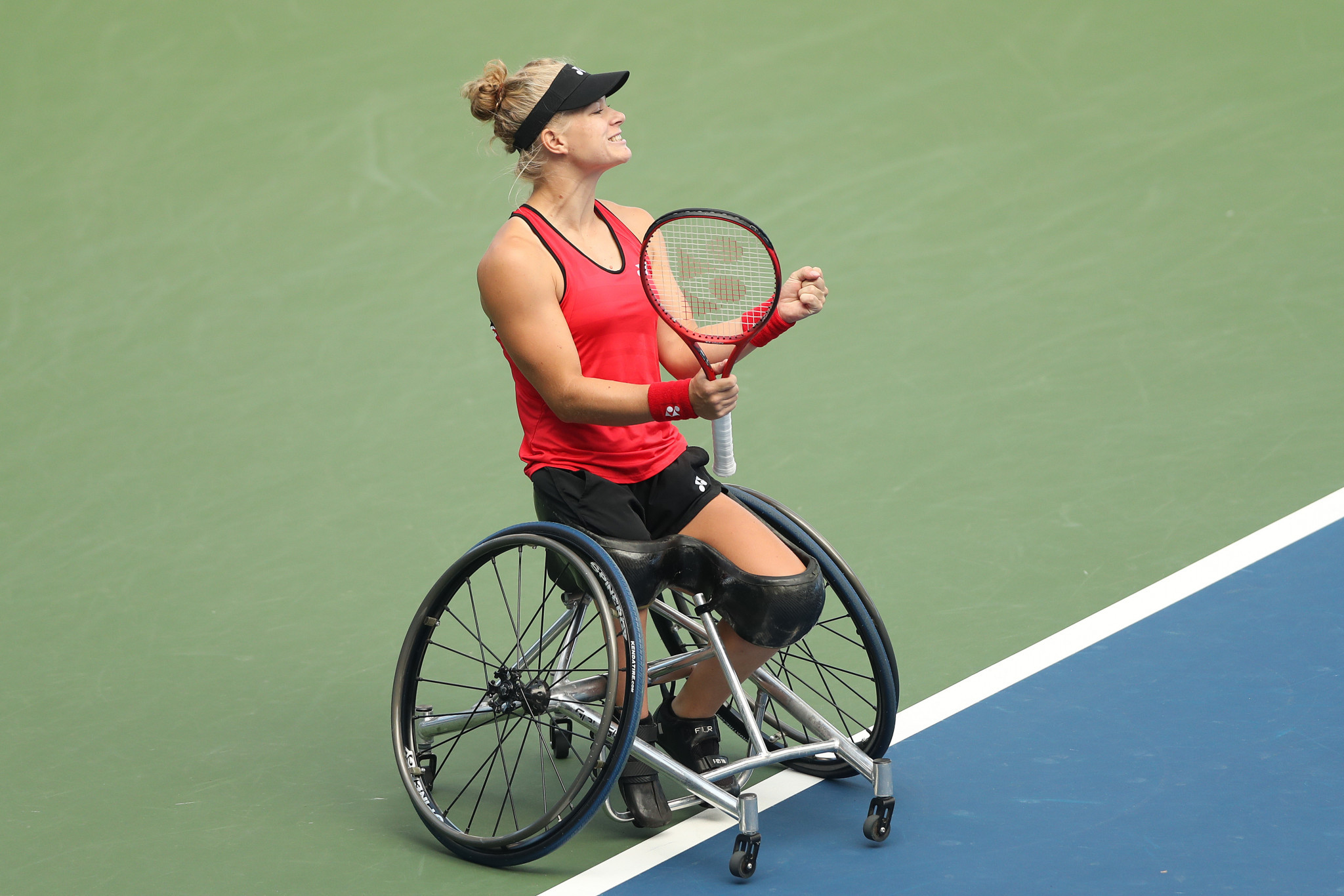 Women's top seed Diede de Groot of the Netherlands faces Britain's Jordanne Whiley in the first round of the French Open women's wheelchair singles competition ©Getty Images