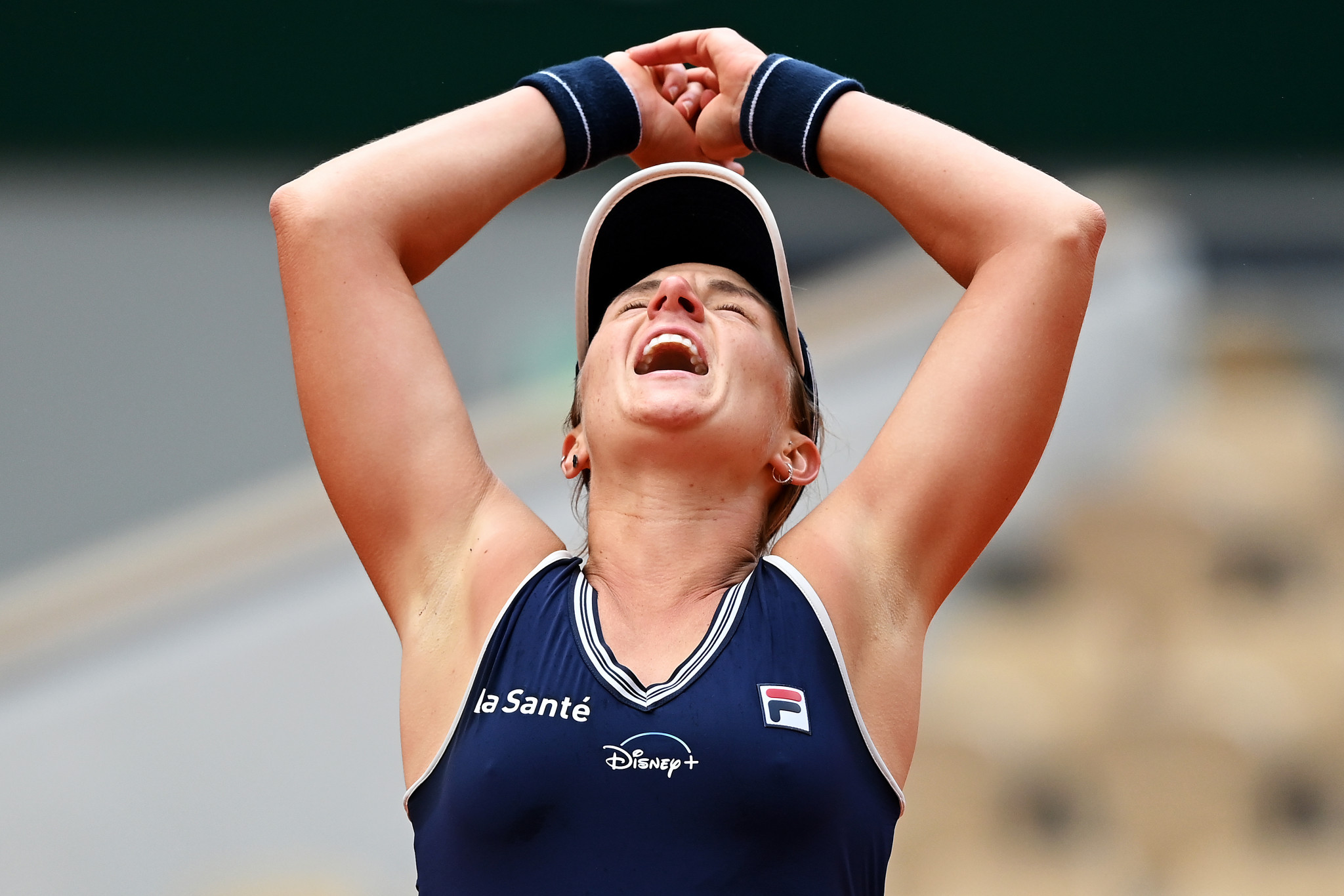 Argentine qualifier Nadia Podoroska caused the biggest upset of the day at Roland Garros as she beat third seed Elena Svitolina ©Getty Images