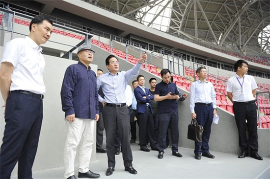 Hangzhou 2022 officials inspect main stadium as venue work continues during Chinese holiday