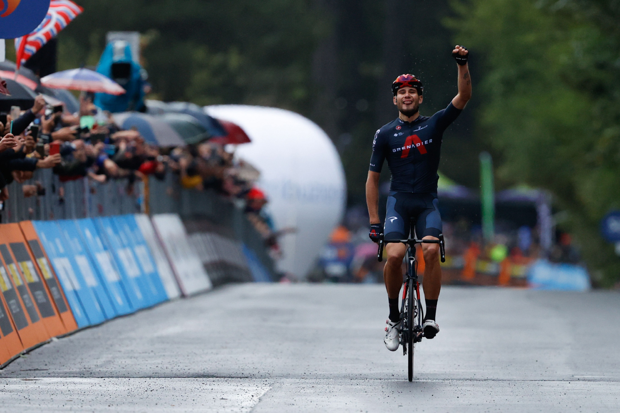 Filippo Ganna earned a surprise breakaway victory on stage five ©Getty Images