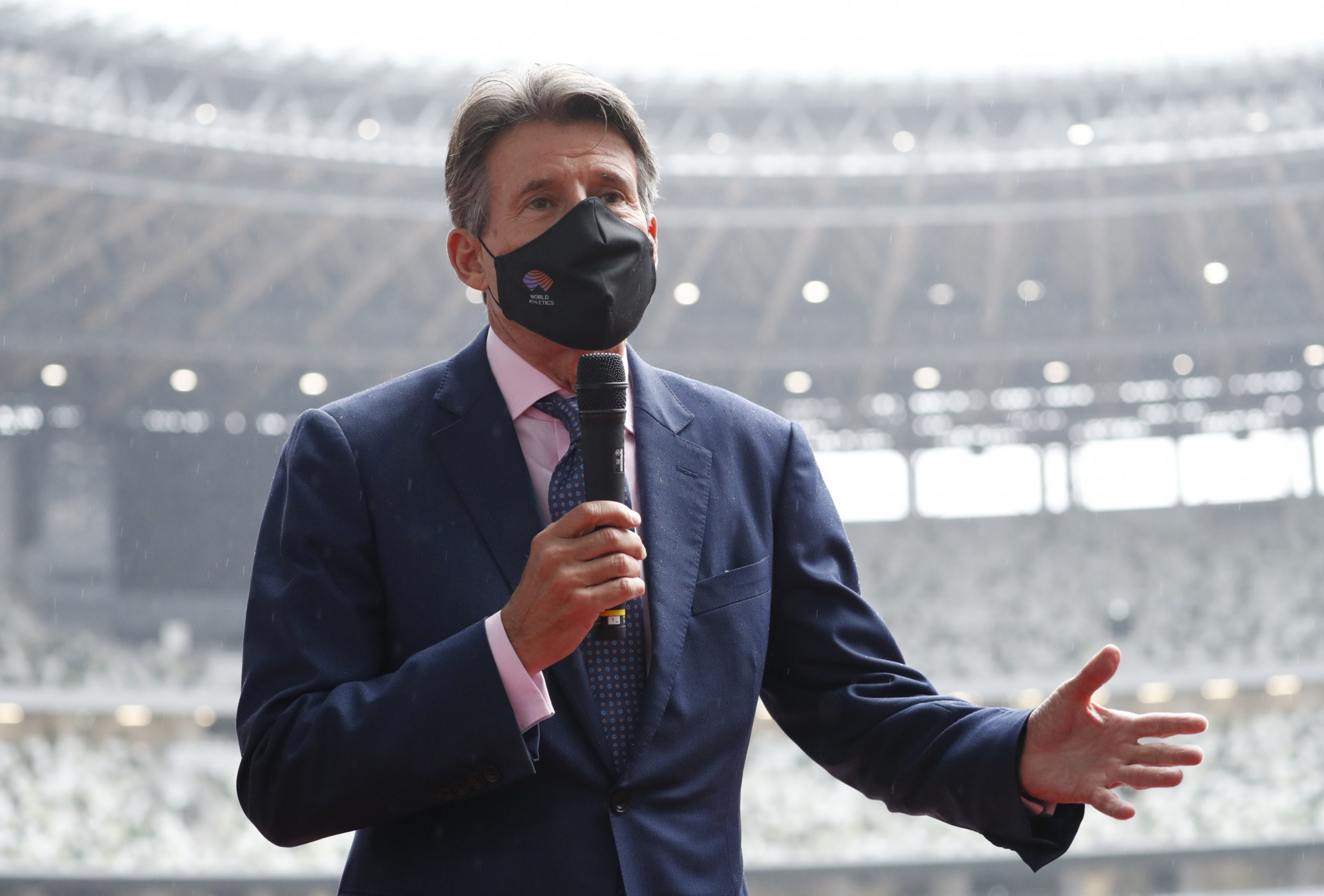 World Athletics President Sebastian Coe has offered his support to athletes willing to protest at next year's Olympic Games in Tokyo ©Getty Images