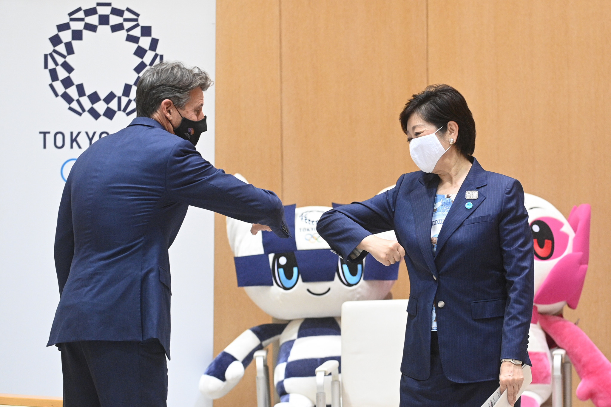 Sebastian Coe met with key Tokyo 2020 officials and Tokyo Governor Yuriko Koike on his visit ©Getty Images