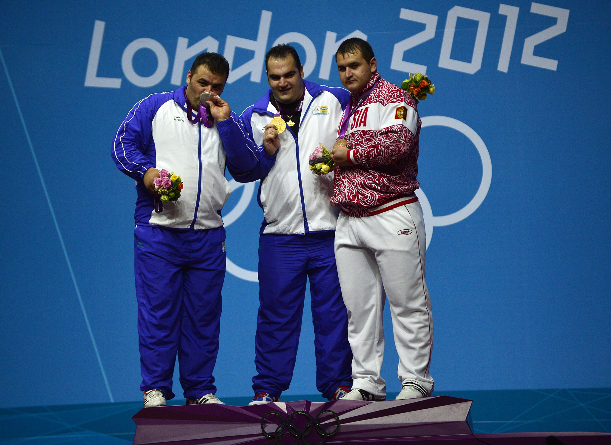 Ruslan Albegov, right, won a bronze medal at London 2012 ©Getty Images