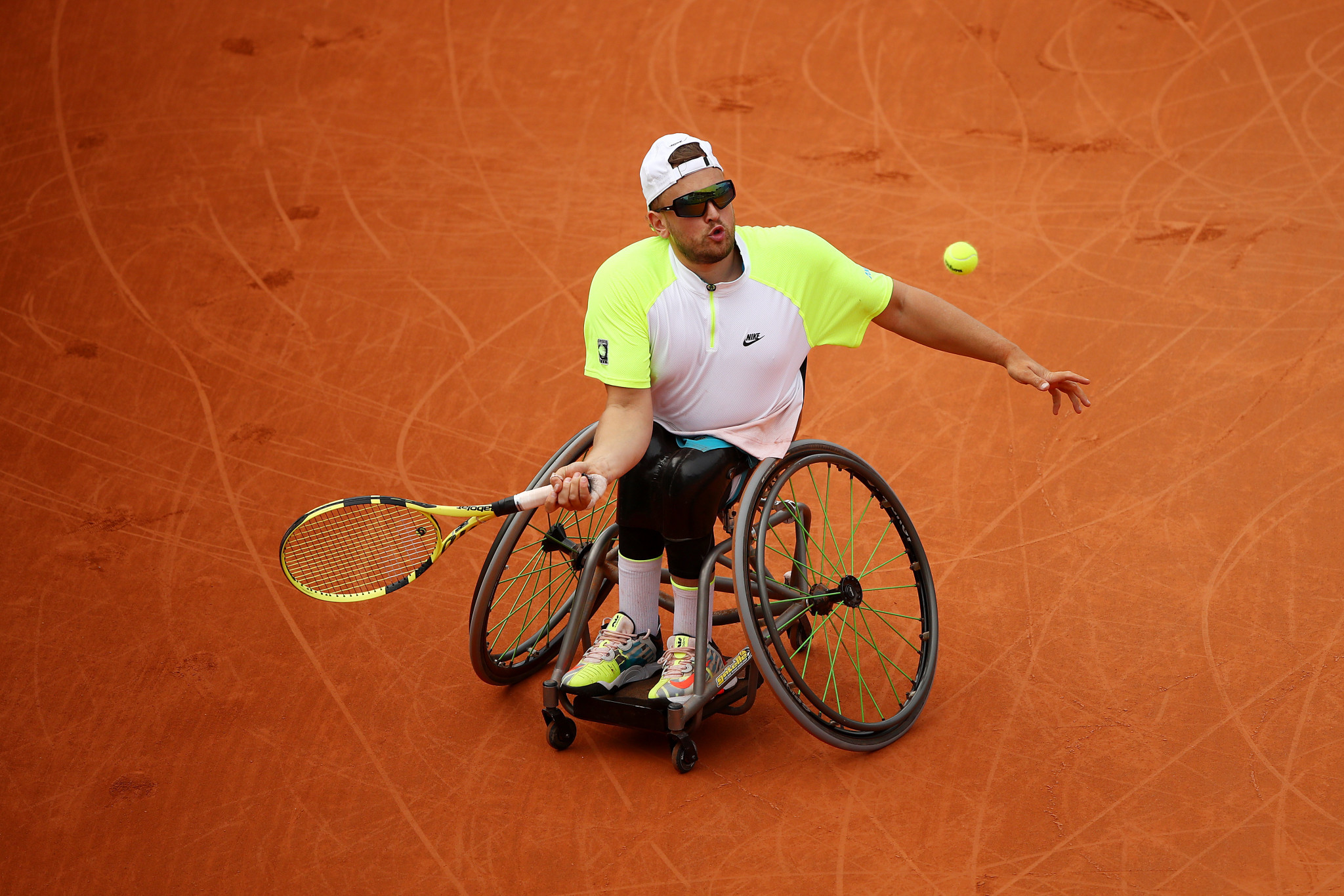 Top seed Dylan Alcott of Australia - a 10-time Grand Slam singles champion - awaits in the final after beating Dutchman Sam Schröder 6-2, 6-4 ©Getty Images