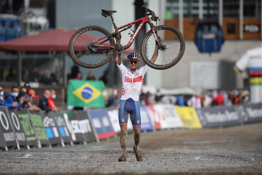 Tom Pidcock triumphed in the men's under-23 race ©Twitter/UCI_MTB