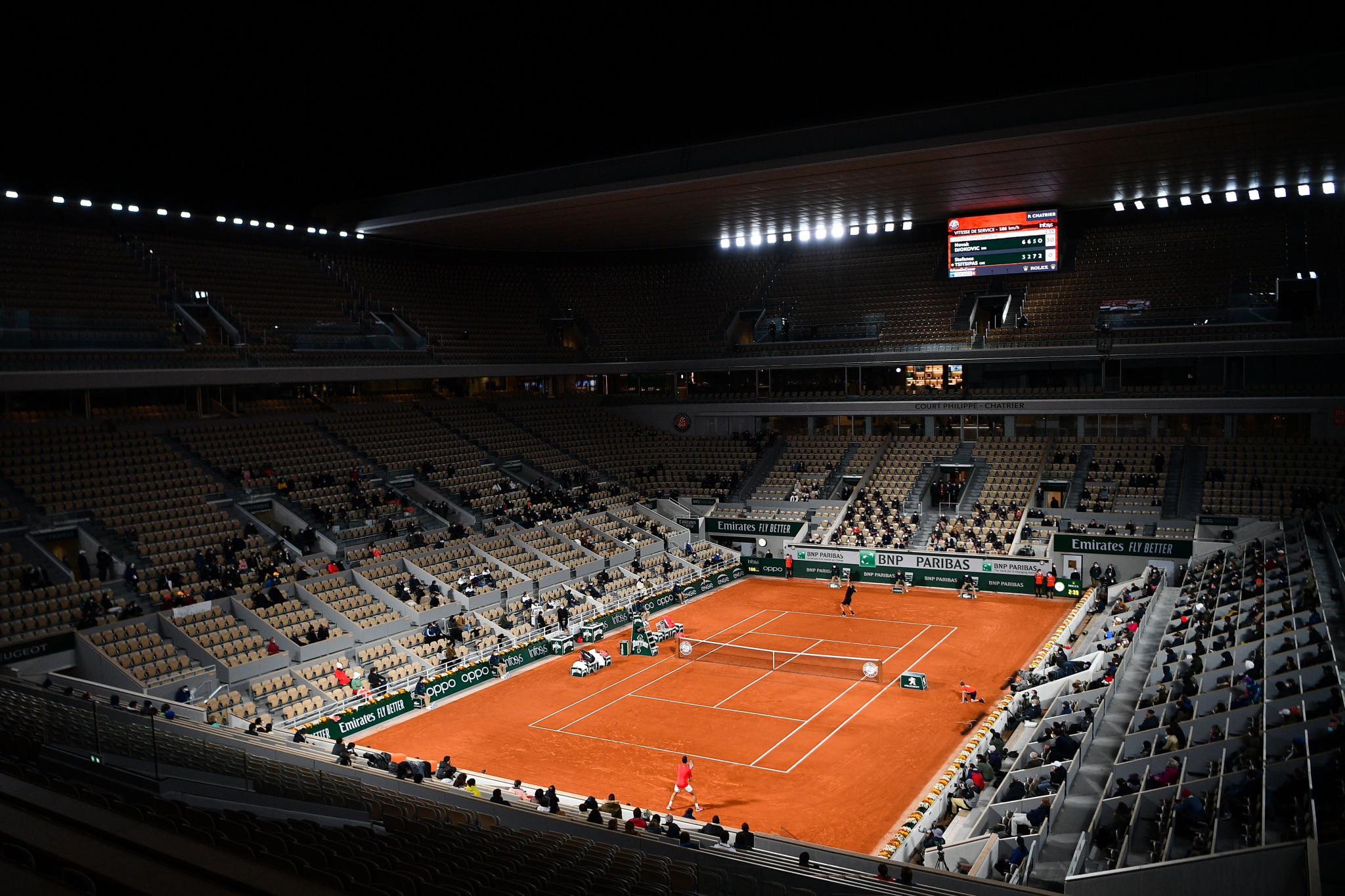 Only 1,000 spectators are permitted at Roland Garros per day due to the coronavirus pandemic ©Getty Images