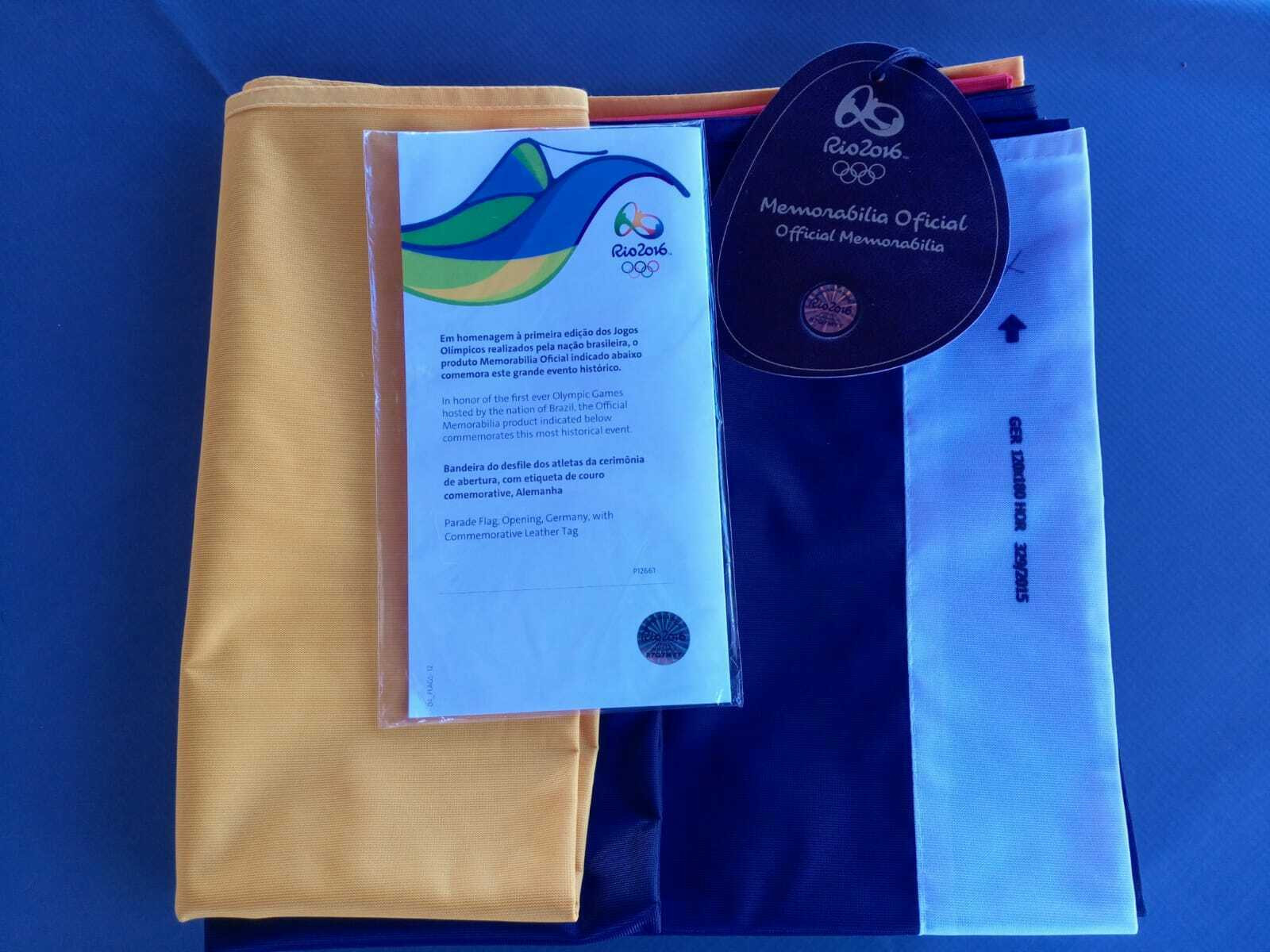 A dealer in Orlando is selling the German flag from the Rio 2016 Opening Ceremony ©eBay