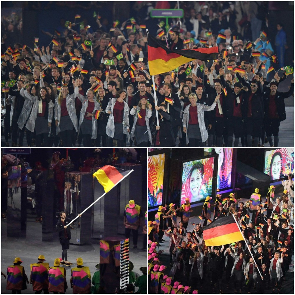 Table tennis player Timo Boll had the honour of carrying Germany's flag in the Opening Ceremony at Rio 2016 in what was his fifth Olympic Games ©Getty Images