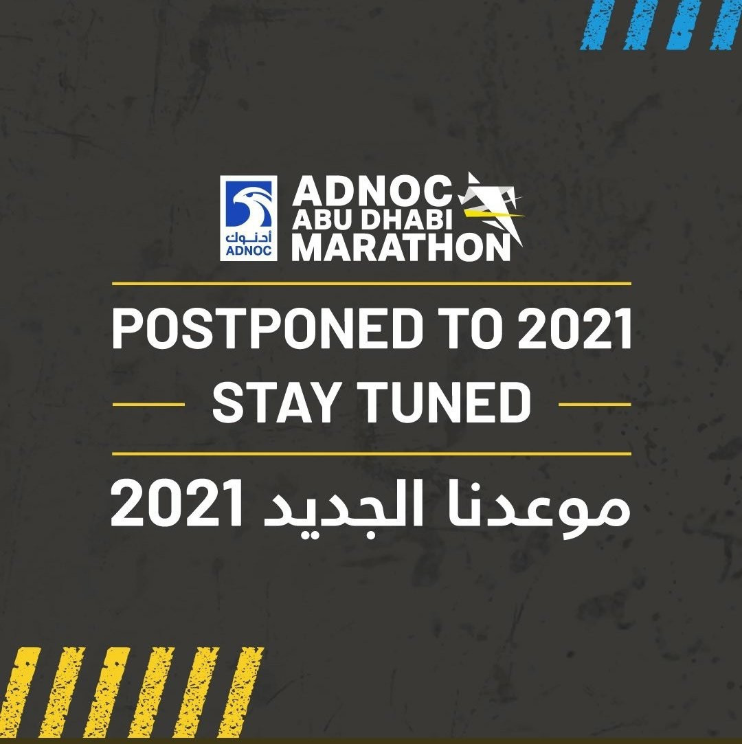 ADNOC Abu Dhabi Marathon postponed until 2021 due to COVID-19 concerns