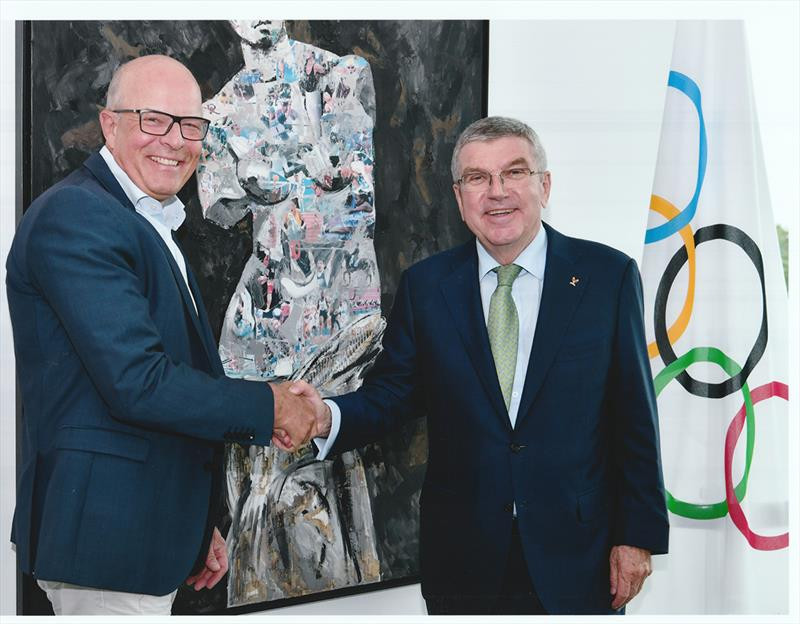 """In a letter to the sailing family, issued to coincide with the start of voting in the election, Andersen claimed he had developed """"good relations"""" with the IOC ©World Sailing"""
