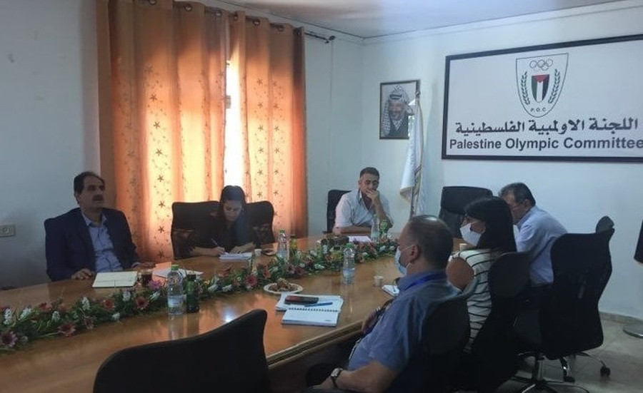 Palestine Olympic Committee and United Nations Development Programme discuss cooperation