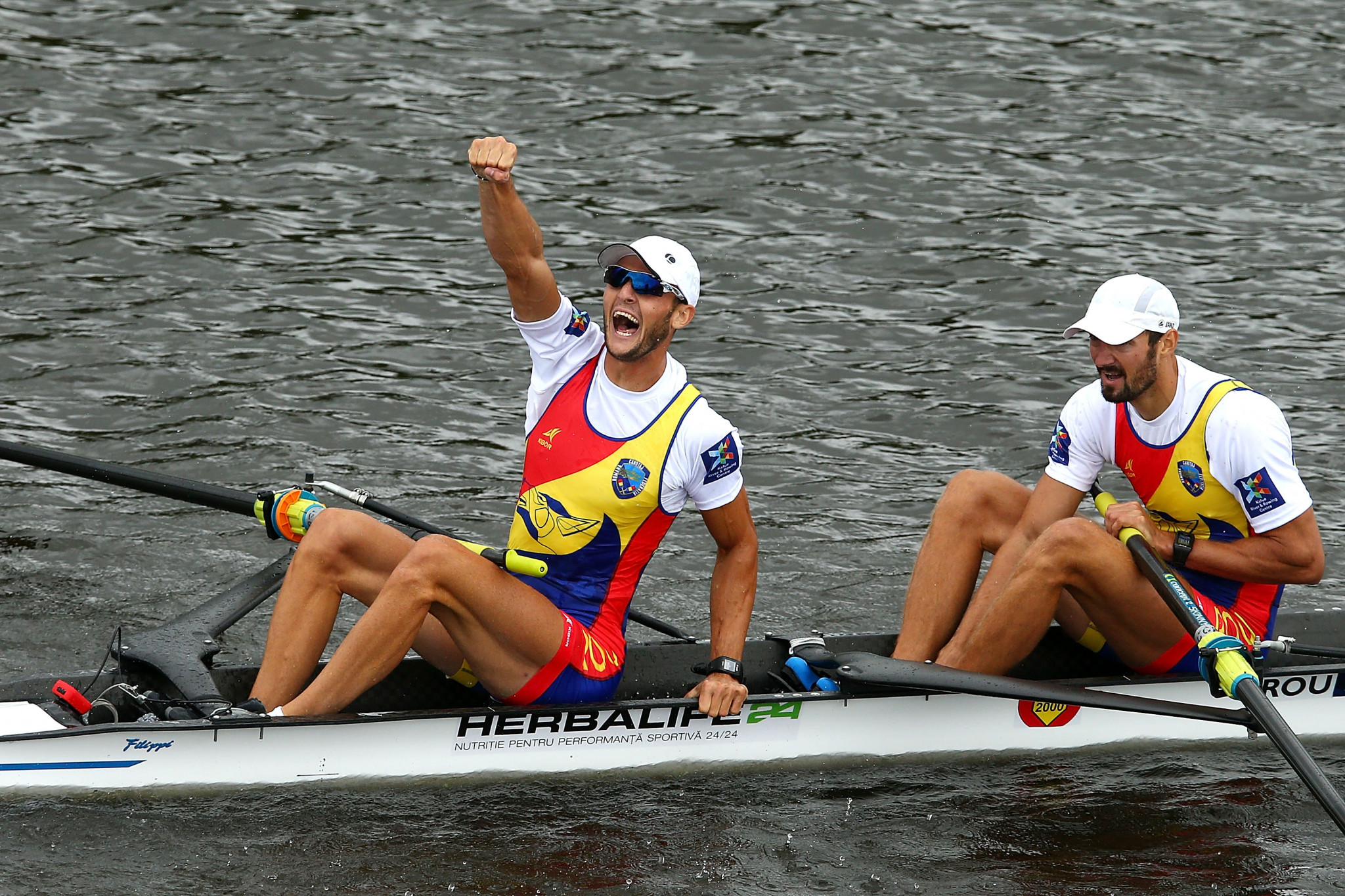 Ciprian Tudosa and Marius-Vasile Cozmiuc clinched the men's pairs title at the European Rowing Championships ©Getty Images