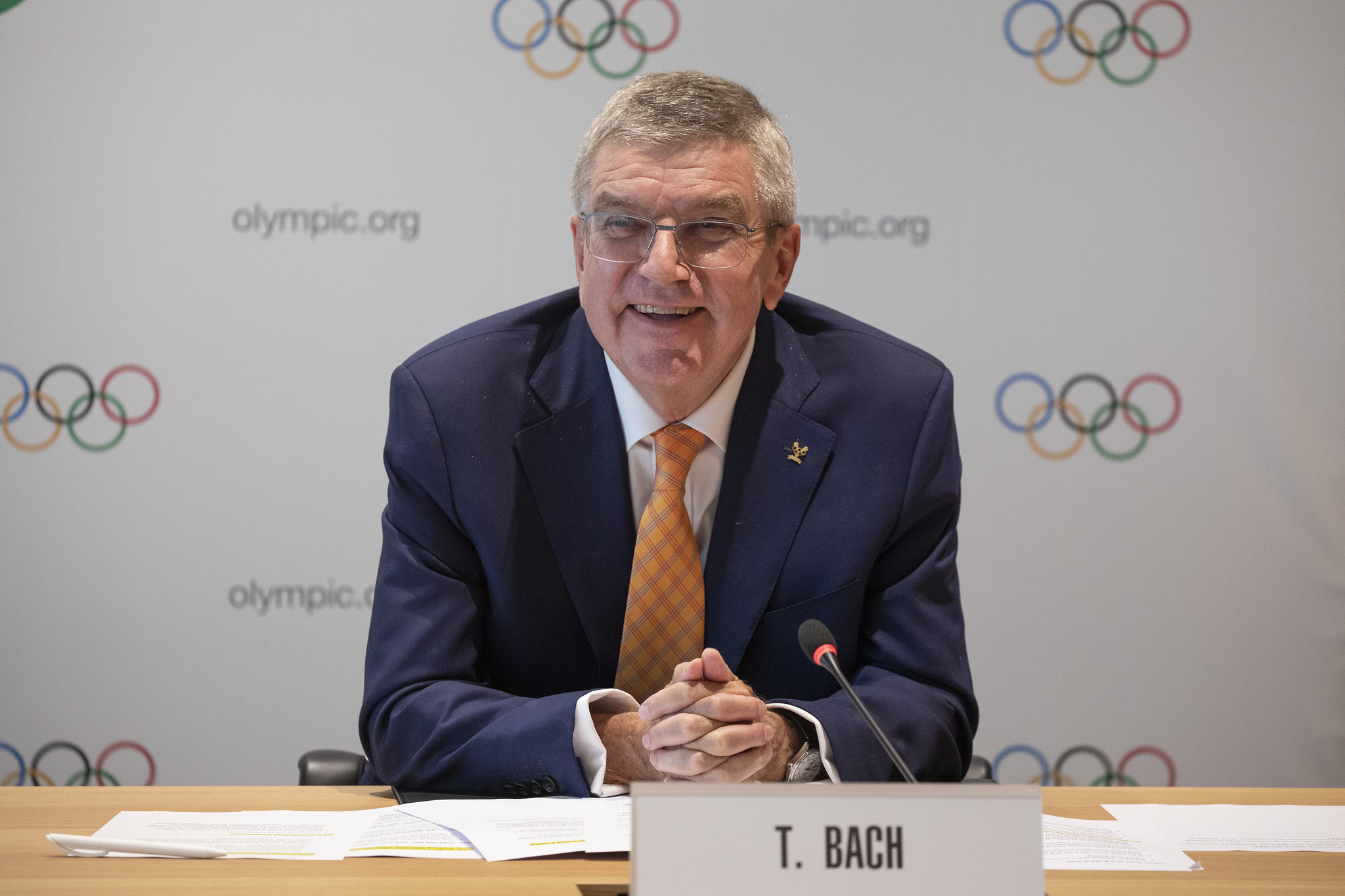 IOC President Thomas Bach sent a video message to the Tokyo 2020 Chefs de Mission seminar ©IOC