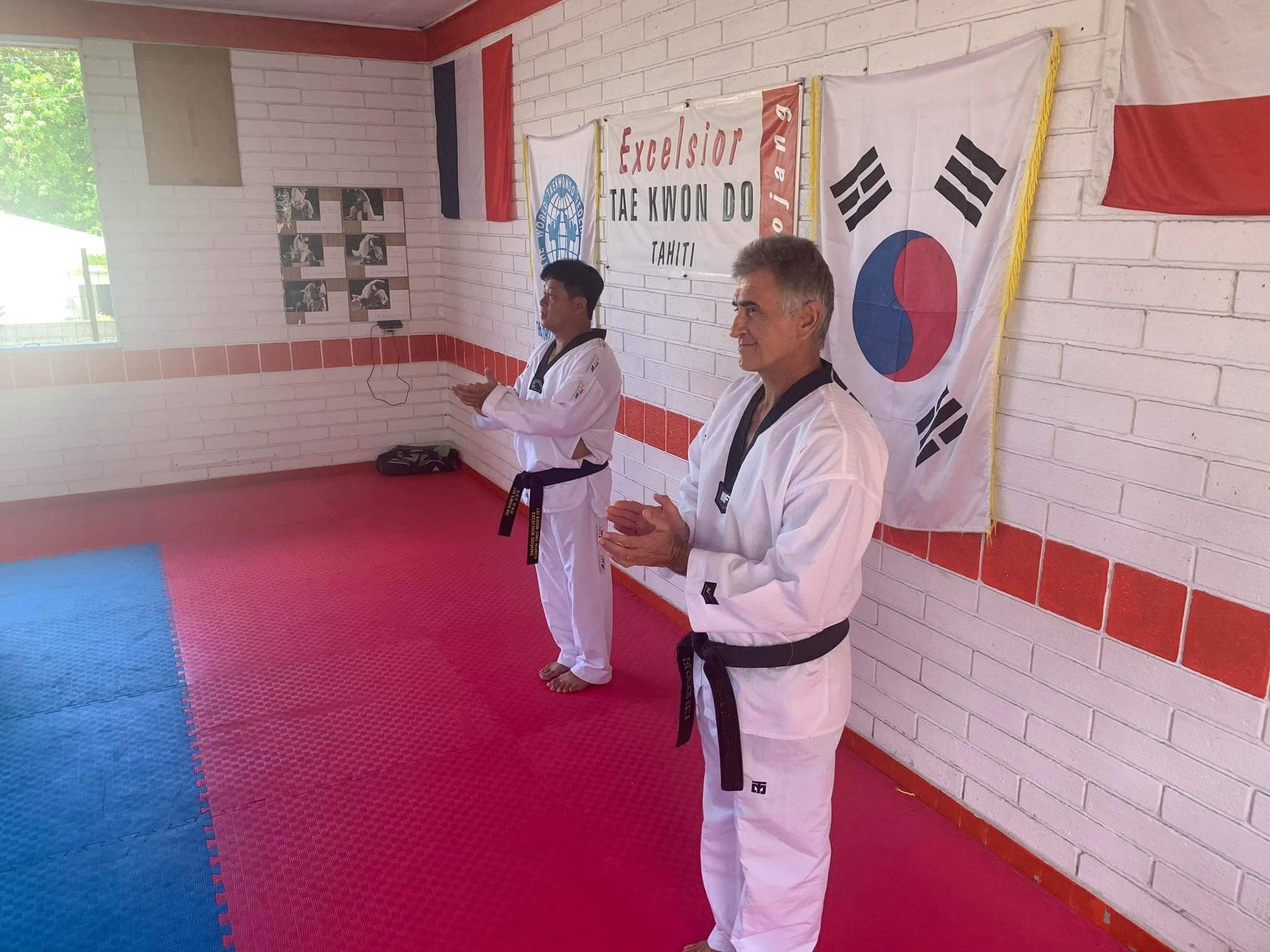 A taekwondo seminar for coaches was held in Tahiti ©FFTDA