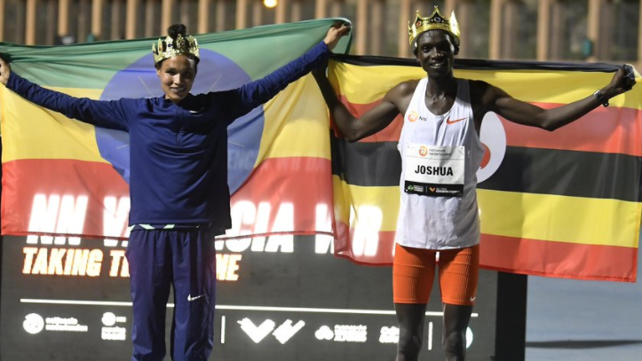 What part did the technological advances of the latest running shoe design play in the world records for the women's 5,000 metres and men's 10,000 metres set last week in Valencia, by Ethiopia's Letesenbet Gidey and Joshua Cheptegei of Uganda? ©World Athletics