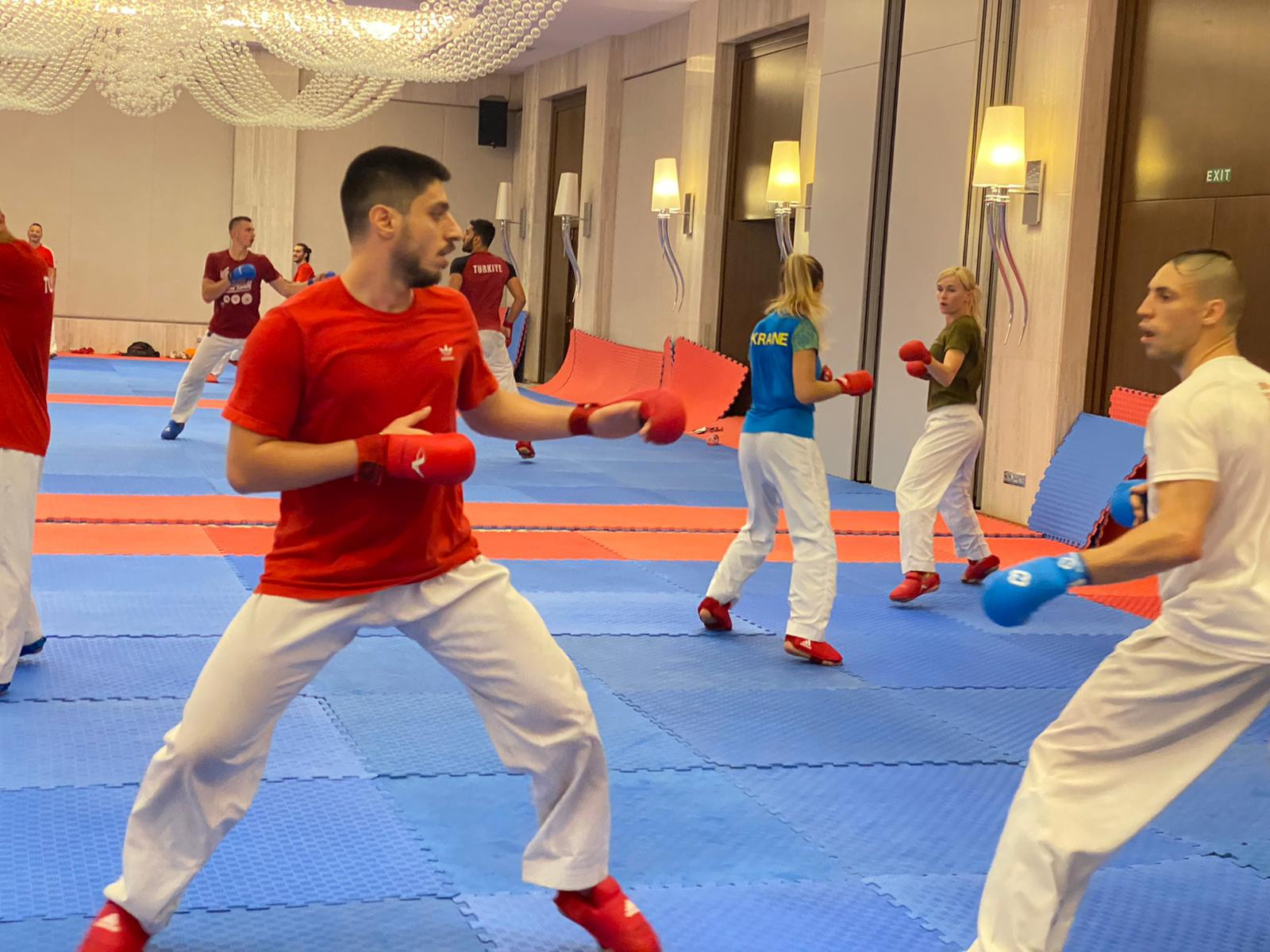 Some of the athletes involved were training for the postponed Tokyo 2020 Olympic Games ©TKF
