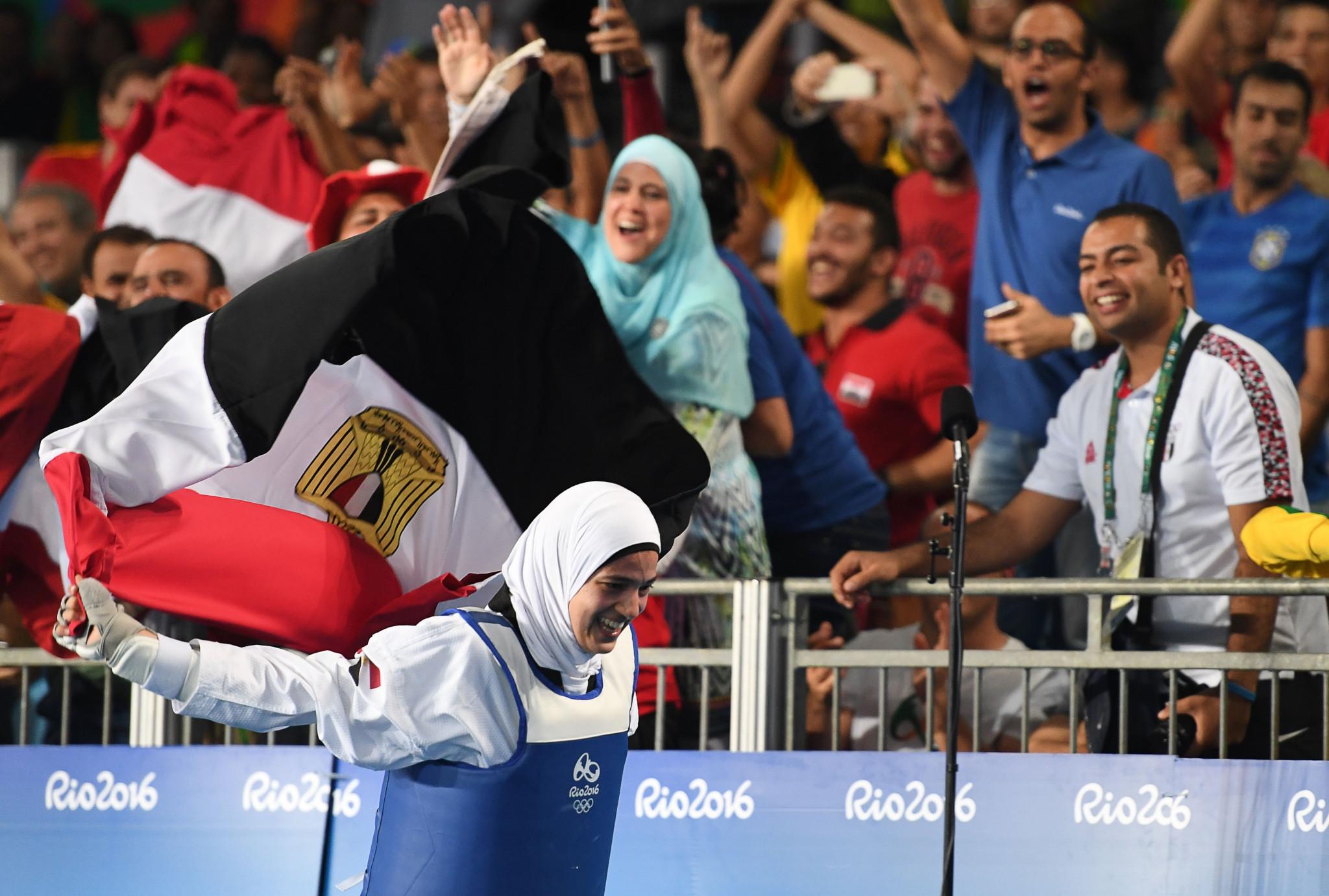 Hedaya Malak Wahba won a bronze medal at Rio 2016 ©Getty Images