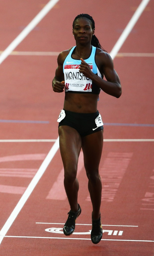 High profile Botswana athlete Amantle Montsho was handed a two-year ban after failing a test during the Glasgow 2014 Commonwealth Games ©Getty Images