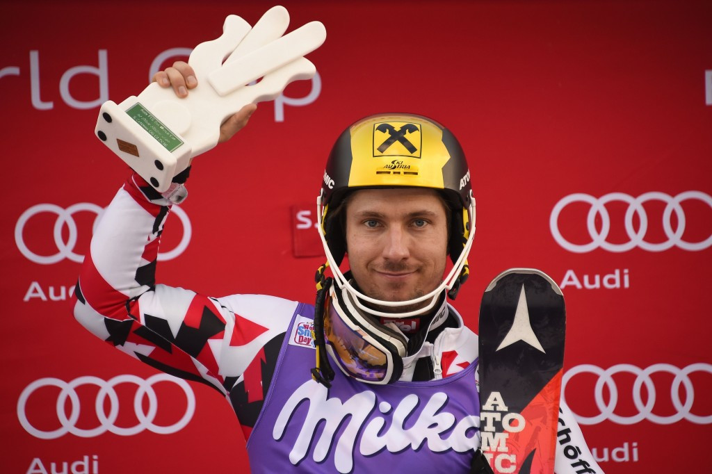 Hirscher becomes third most successful slalom racer after World Cup win in Santa Caterina