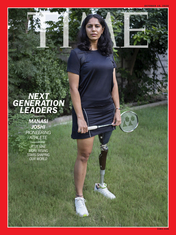 The Para-badminton world champion is set to feature on the cover of TIME magazine later this month ©TIME