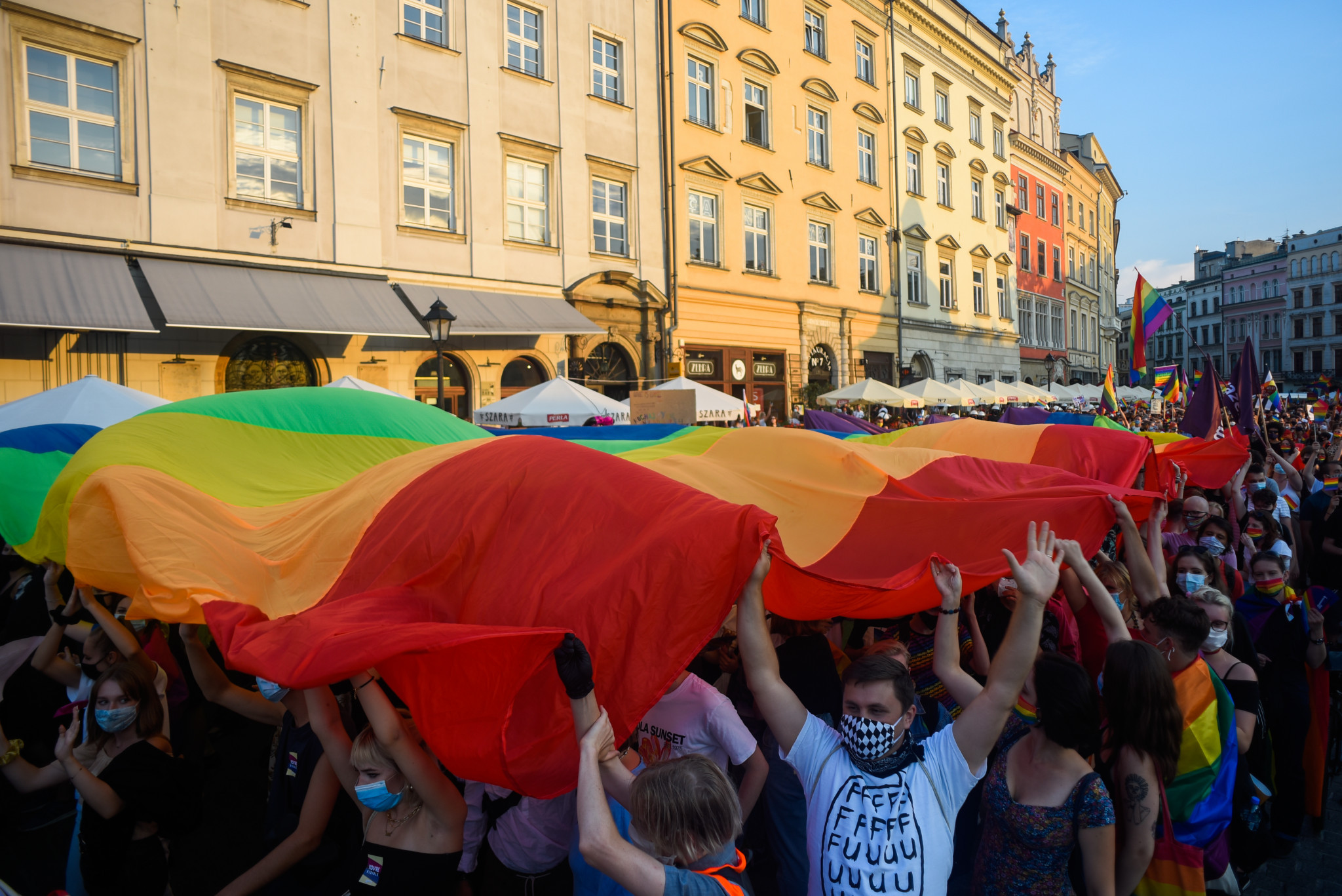 Poland's LGBT free zones have received criticism from the European Parliament ©Getty Images