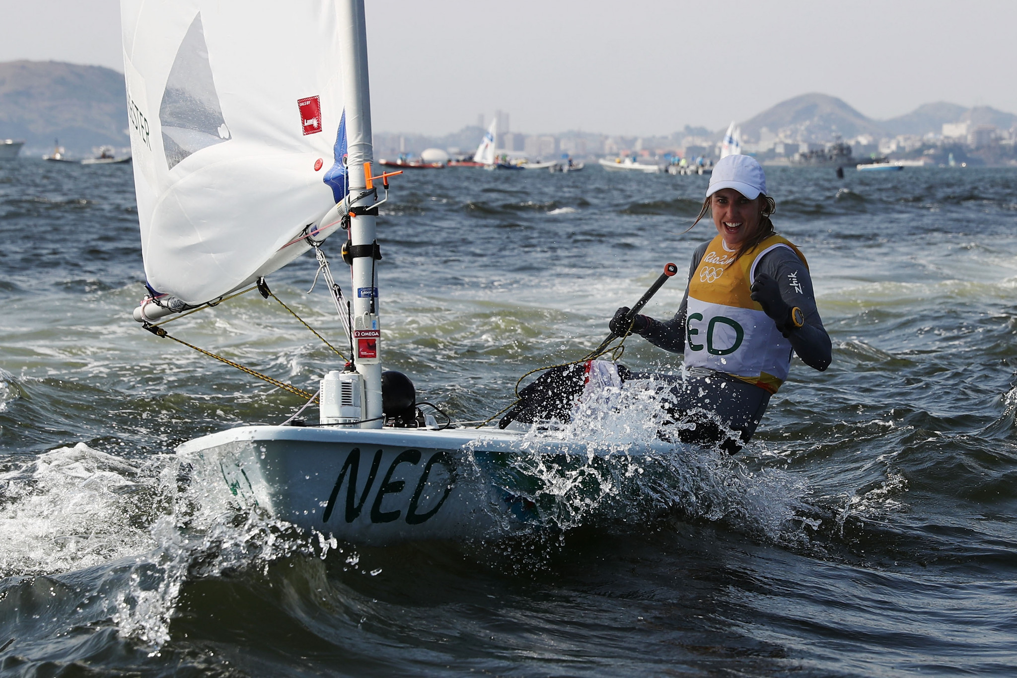 Marit Bouwmeester claimed her fourth European Laser Championships title ©Getty Images