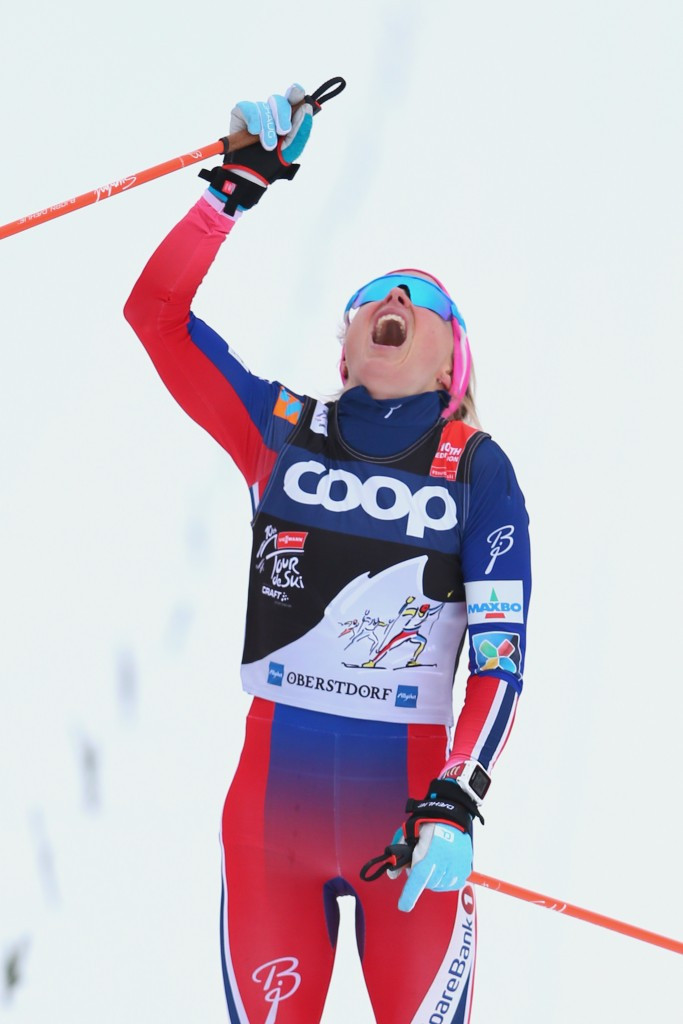 Norway's Therese Johaug won the women's 10 kilometre classic mass start at stage five of the Tour de Ski in Oberstdorf ©Getty Images