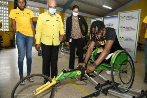 The Chase Fund donated equipment to the Jamaica Paralympic Association ©Chase Fund
