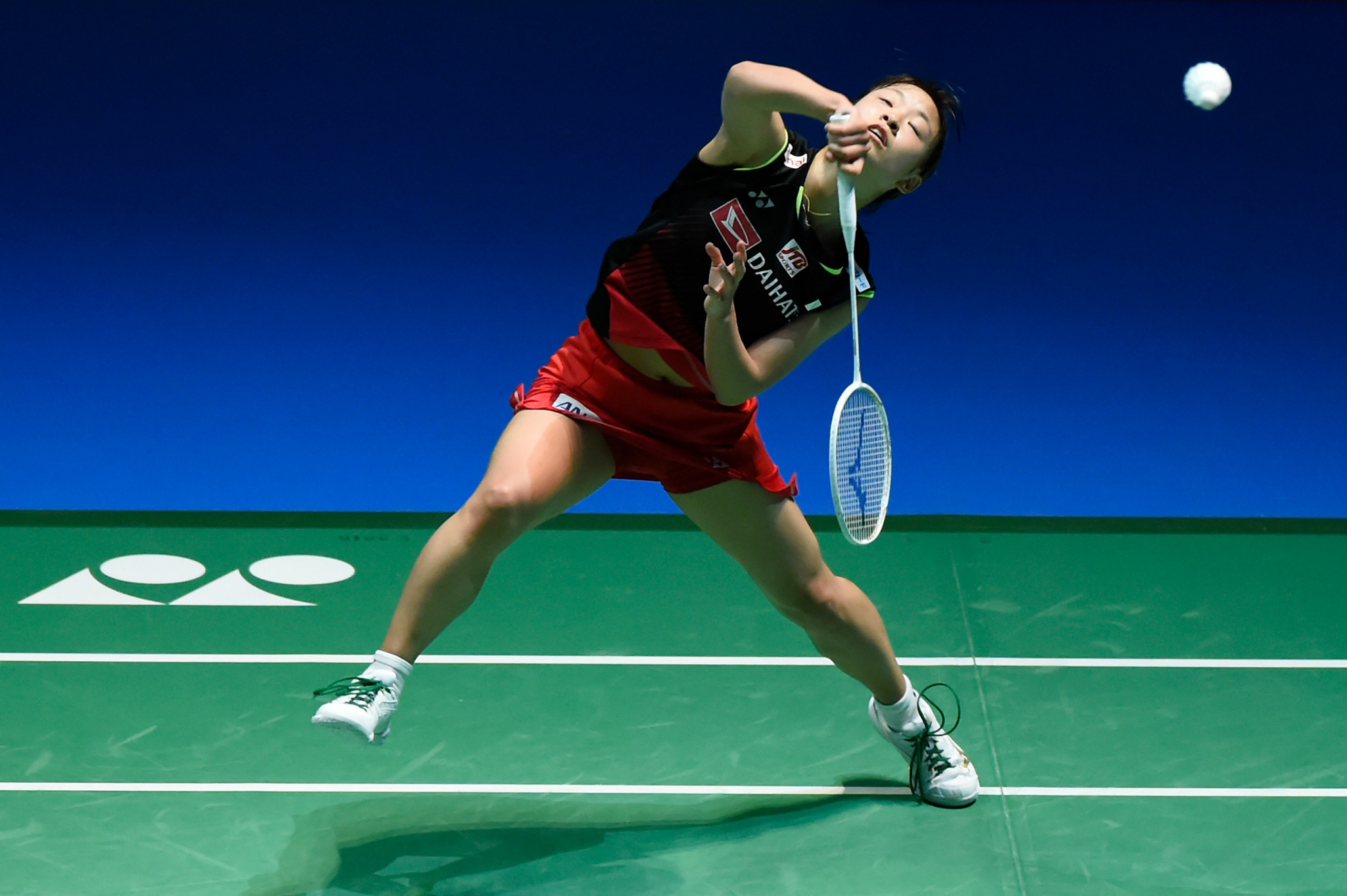 Women's second seed Nozomi Okuhara also recorded a straight games win in her first round match at the BWF Denmark Open  ©Getty Images
