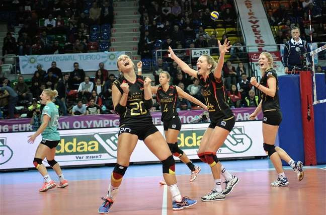 Germany and Italy gain key victories at FIVB European Olympic Volleyball Qualification tournament