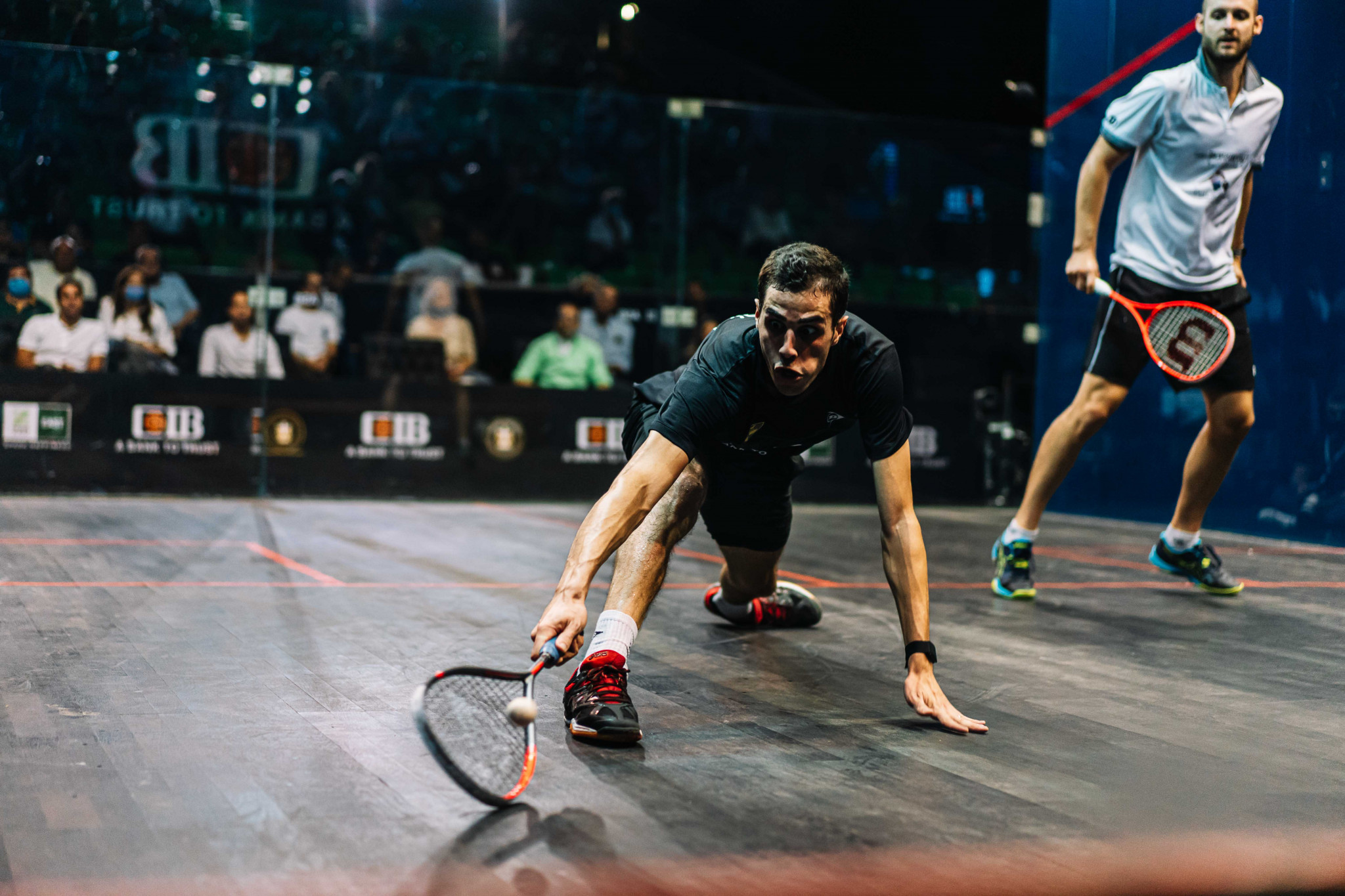 Men's top seed Ali Farag of Egypt won his quarter-final in straight games at the PSA Egyptian Open ©PSA World Tour