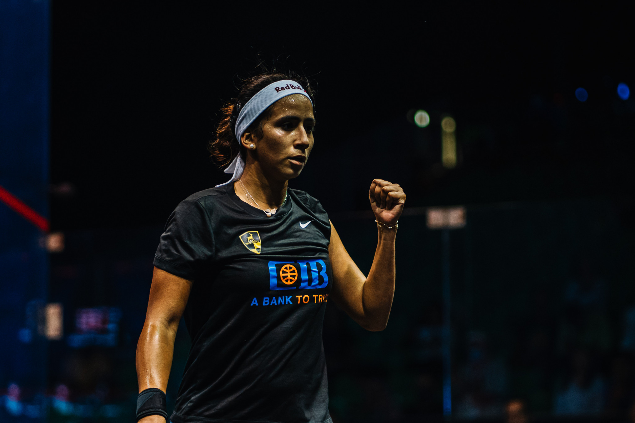 Women's top seed Nouran Gohar of Egypt also recorded a straight games win in her quarter-final today ©PSA World Tour