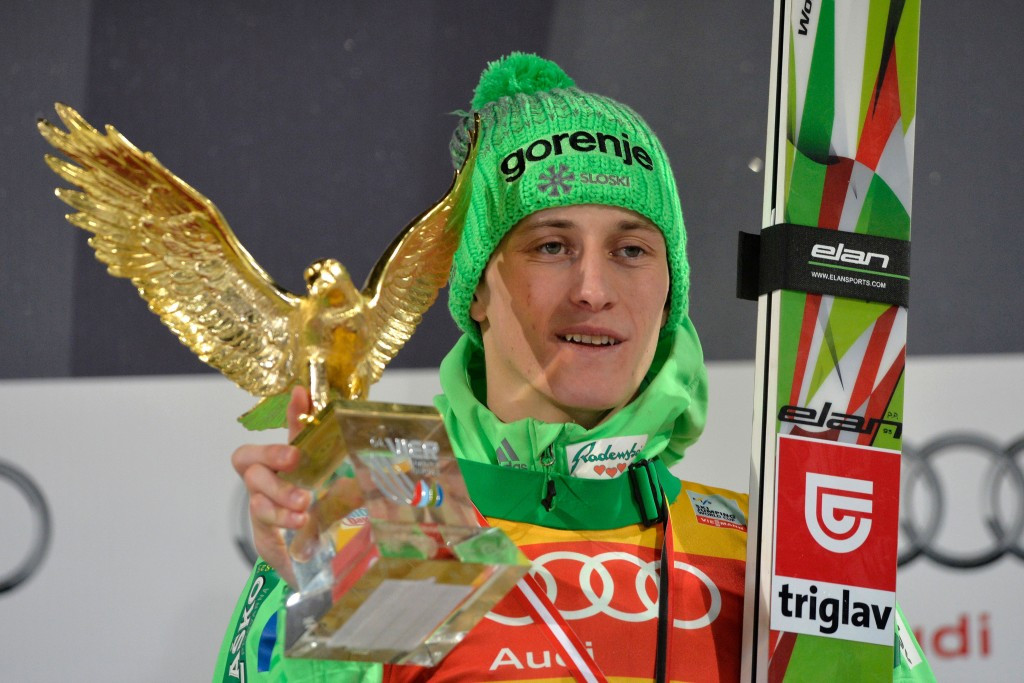 Peter Prevc became the first Slovenian winner of the Four Hills tournament for two decades ©Getty Images