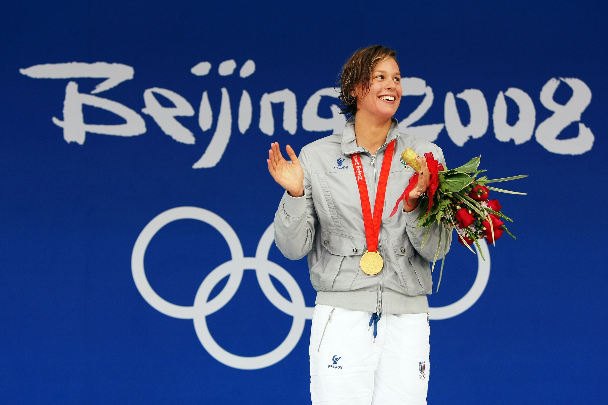 Federica Pellegrini earned Olympic gold at Beijing 2008 ©Getty Images