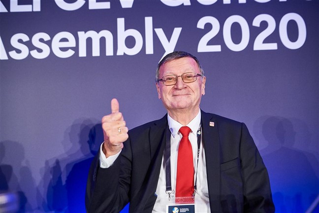 Serbian Boričić re-elected European Volleyball Confederation President