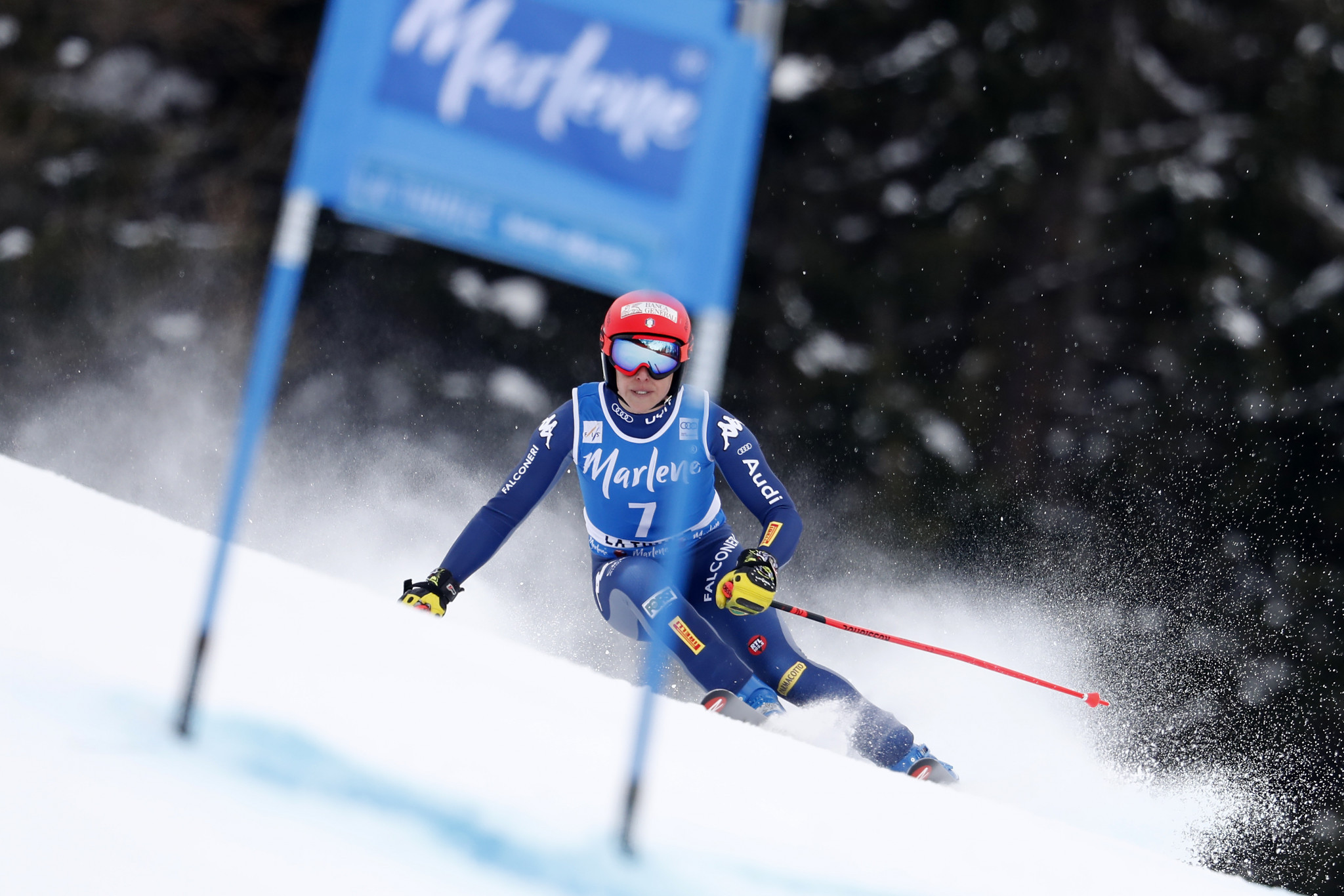 Federica Brignone of Italy is expected to challenge in the women's giant slalom at the FIS Alpine Ski World Cup event in Sölden ©Getty Images